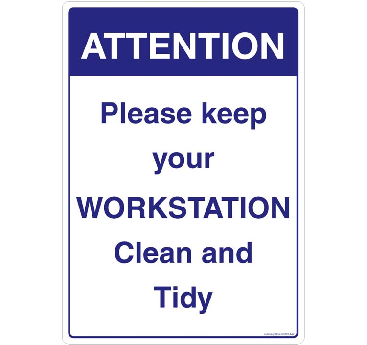 Are you keeping your workstation clean?